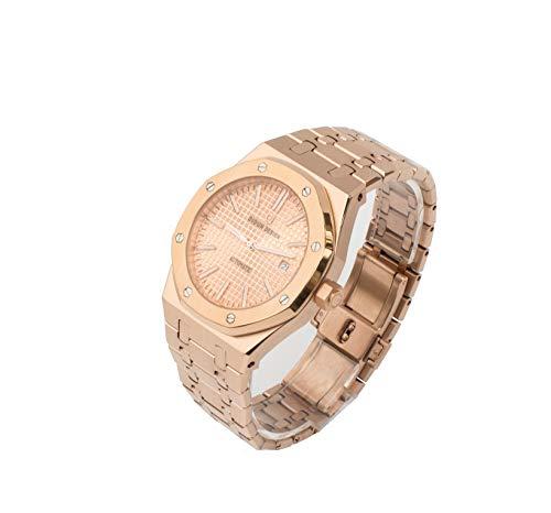 Sportlich Elegante Herren Automatik Uhr, Saphirglas, massives Armband, Miyota Uhrwerk, Didun Royal One Rosegold/Rosegold