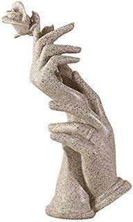 ハンドフォームジュエリーホルダーハンドモデル表示テーブル手の装飾品樹脂ネックレスイヤリング指輪ブレスレットオーガナイザー グレー ホワイト (グレー)