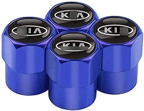 4 Piezas Coche Válvula Neumáticos Tapones Aleación Aluminio Para KIA K2 K3 K5 K4 Sorento Sportage R Rio, Impermeabile Metal Accessori Tapa Antirrobo