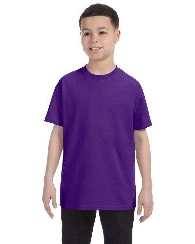 Hanes boys Cotton T-Shirt(5450)-Purple-S