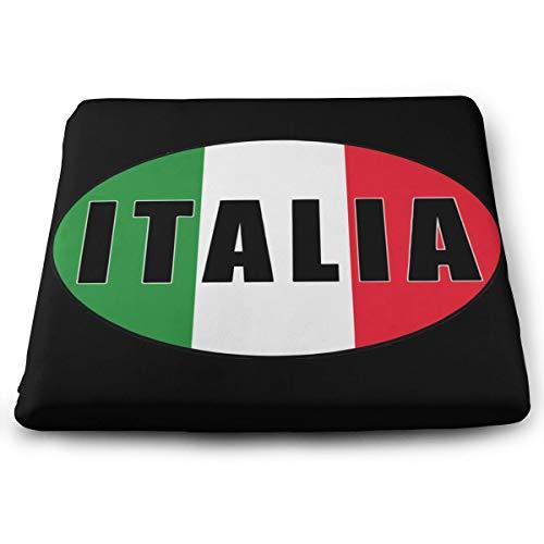 Italia Italien Italienische Flagge Memory Foam Sitzkissen Square Chair Pads