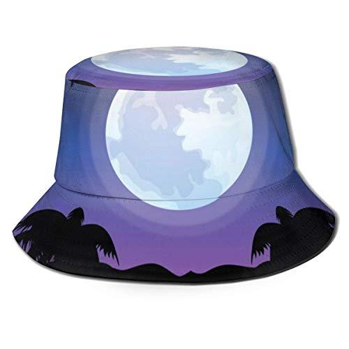 NE Palmen, Sonne, Hängematte Herren Damen Fischerhüte Boonie Hut Sommer Bucket Cap Hut für Wandercamping