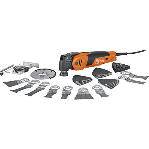 Preisvergleich Produktbild Fein 72294662000 Oszillierer Profi-Set / Innenausbau Holz / mit umfangreichen Holzbearbeitungs-Zubehör Set / QuickIn Schnellspannsystem / StarlockMax Werkzeugaufnahme / Kugel- / Nadellager / 450W