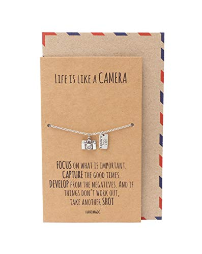 Quan Jewelry Cute Vintage Camera Miniature Jewelry for Women, Photography Gifts (Bracelet)