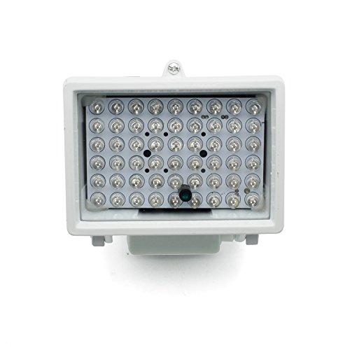 Wilktop - Foco LED infrarrojo (60°10 W, visión nocturna, LED, 850 nm, con fuente de alimentación)