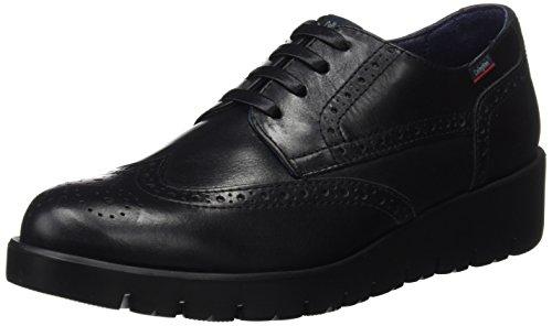 Callaghan Haman, Zapatos de Cordones Oxford Mujer, Negro (Black), 41 EU