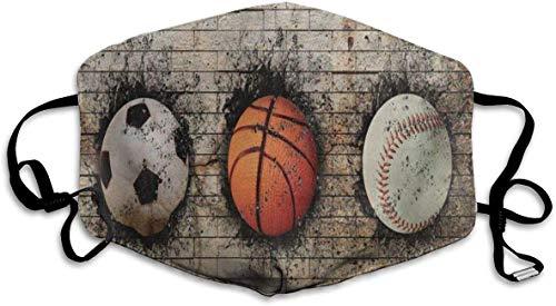 Staubdichte waschbare Wiederverwendbare Vintage 3D Basketball Baseball Fußball Mundabdeckung Maske Atemschutzmaske Keimschutz Sicherheit Warme Winddichte Maske