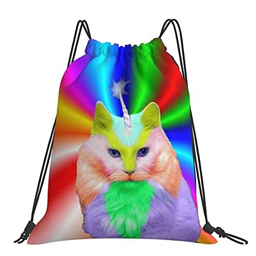 Bolsa de gimnasio Derp The Cat Mochila con cordón Bolsas deportivas Bolsa de playa para yoga Gimnasio Natación Viajes Playa