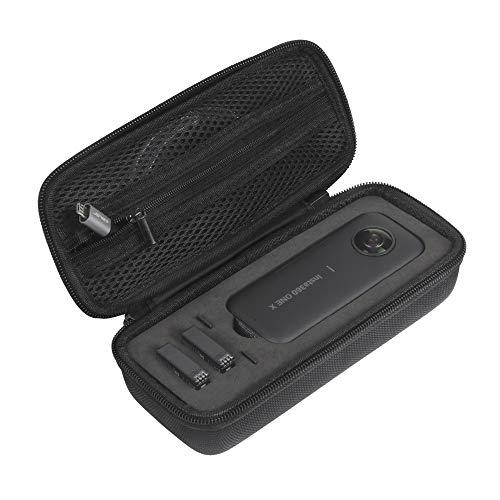 JSVER Tasche für Insta360 ONE X Handtasche Eva Schützend Carrying case Wasserdicht für Insta360 ONE X Kamera, Battery und Zubehör, mit Silikonlinsenabdeckung