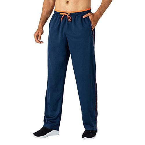 KPIP Pantalones Deportivos para Hombre de Gym Jogger de Ajustado Pantalón Chándal con Bolsillos Cordón y Trabillas para Toallas Correr Entrenamiento Ciclismo Gimnasio