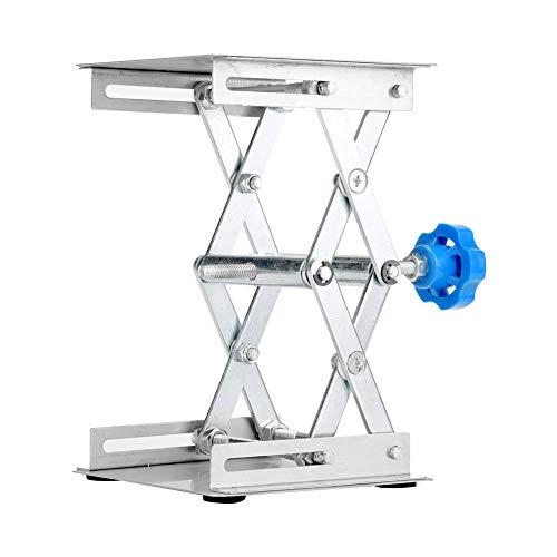 100×100×160mm Labor Hebebühne Edelstahl Labor Hebebühne Ständer Schere Lab-Lift (Blauer Griff)