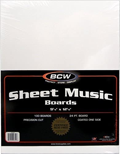 100 Sheet Music Größe Backing Boards   Backers (9-1 4 x 12-1 8) - Protect Sheet Music From Bending   MAIWSH by BCW