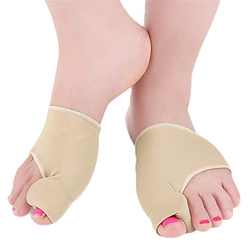 Toe Straightener Pain Relief Sleeves, Big Toe Splint, Orthopedic Bunion Splint Protectors Corrector Toe Straightener with Built-in Gel Pads, Bunion Protectors Support Sleeve 1 Pair