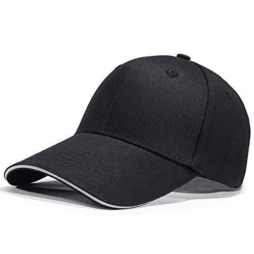 LIVACASA Baseball Cap Herren Verstellbar Basecap Luftlöchern Sonnenschutz Damen Baseballkappe CAPI Unisex mütze Baumwolle Cappy für Sport Reisen Draußen (Schwarz Reflektor, One Size)