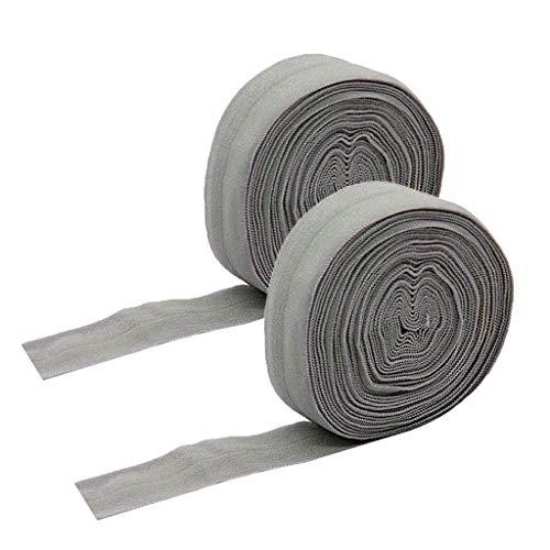 oshhni Cinta de Cintura de Cordón Elástico Gris de 2X 20 Mm 10 M para Costura de Bricolaje
