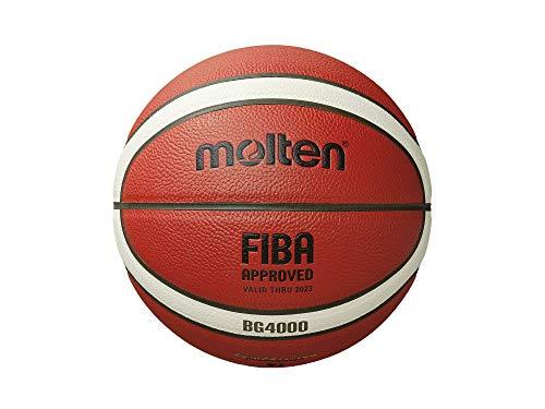Molten B5G4000-DBB - Balón de Baloncesto, Color Naranja y Marfil
