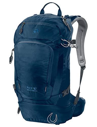 Jack Wolfskin Herren Satellite 24 Pack Wandern Outdoor Trekking Rucksack, Poseidon Blue, ONE Size