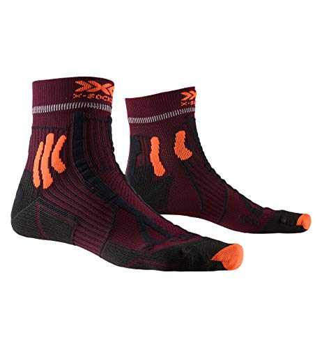 X-Socks Trail Run Energy Socks, Unisex Adulto, Sunset Orange/Opal Black, 42-44