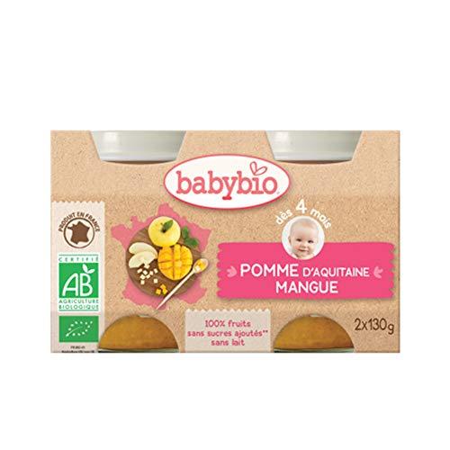 Babybio - Pots Pomme mangue dés 4 mois