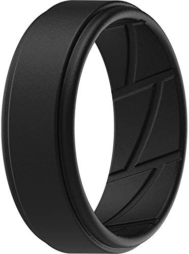 ThunderFit Silicone Wedding Ring for Men 1 Ring Black 11 5 12 21 3mm product image