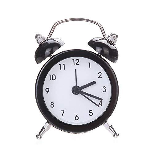 Espejo Despertadores Control de Sonidos de Temperatura Reloj de Mesa de Escritorio Campana Doble Aleación silenciosa Reloj Despertador de Metal Inoxidable 19MAY14-UN_Estados Unidos
