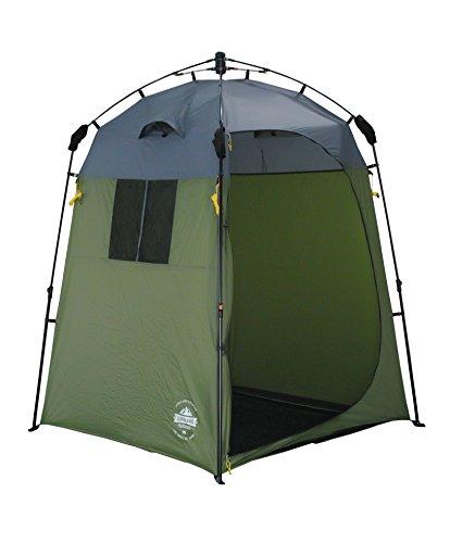 Lumaland Where Tomorrow Tienda de Campaña Pop Up Ducha de Camping - Cambiador Portátil de Camping para Privacidad al Aire Libre - Carpa de Aseo Impermeable con Protección UV - 155x155x220 cm/Verde