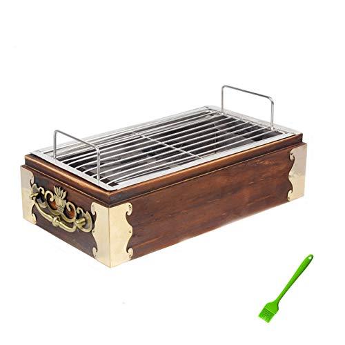 DXYSS Parrilla de Carbón, Barbacoa Plegable Parrilla de carbón Simple Simple Plegable Plegable Barbacoa Barbacoa Acero Inoxidable Espesamiento portátil Plegable Parrilla Plegable