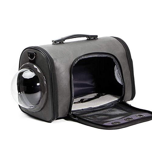 LQPHY Trasportino da Viaggio per Animali Domestici Borsa per Aereo di Lusso Leggera per Cani/Gatti/Cuccioli con Cuscino Morbido, Borsa a Tracolla Portatile con Design a Bolle di Capsula Spaziale