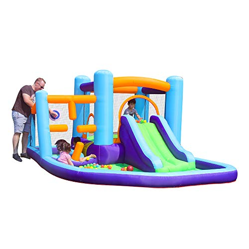AirMyFun Inflatable Kids Bounce House Bouncy Castle with Water Slide for Kids Outdoor Indoor Party