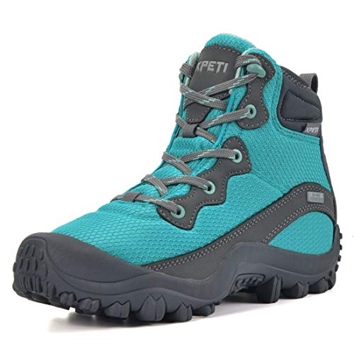 GEAR DEPOT SKENARY Dimo Women's Hiking Boots Mid Waterproof Non-Slip Outdoor Camping Summer Trekking Boots Green