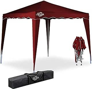 Deuba® Pavillon Capri 3x3m wasserdicht Pop-Up inkl. Tasche UV-Schutz 50+ Faltpavillon Gartenzelt Partyzelt Rot