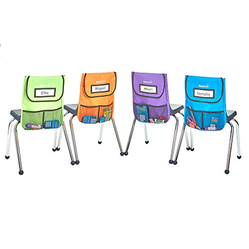 """EAI Education NeatSeat Slide Classroom Chair Organizer Small 