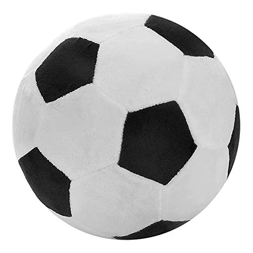 xinyawl Peluche Pelotas de fútbol de Peluche Mullido Relleno de Baloncesto Polla de Peluche Suave Peluche Rugby Relleno Toy Stuff Soccerball Regalo para niños Bebé (Color : Football)