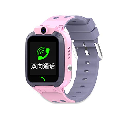 STRIR Relojes Smart para niños, Relojes a la Moda Smart para niños y niñas, Realiza Llamadas, envía Mensajes de Voz, Cámara, función SOS, monitoreo de posicionamiento GPS,Alarma (Rosa)