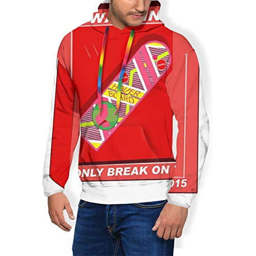 Back to the Future Hoverboard Break 2015 Herren Fashion Sweatshirt Hoodie Pullover Taschen Plus Samt Gr. Large, mehrfarbig