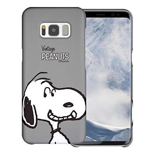 """Galaxy S8 ケース と互換性があります Peanuts Snoopy ピーナッツ スヌーピー ハード ケース/艶消しの硬い スリム スマホ カバー 【 ギャラクシー S8 ケース (5.8"""") 】 (面 スヌーピー) [並行輸入品]"""