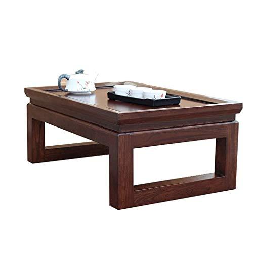 GDD Mesitas de Café Mesa de Centro Las mesas de café de la Cama del Ordenador Tabla Tatami hogar sólido Tabla de Madera Balcón Ventana Mesa de la Sala Corto Retro (Size : 60 * 40 * 25cm)
