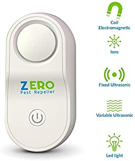 ZEROPEST 2020 Upgraded Ultrasonic Pest Repeller, Pest Control Reject Devices Electronic Plug in Repellent Defender Home Indoor for Rat Mosquito Mice Spider Ant Roaches Bugs Flea Insect (1 Pack)