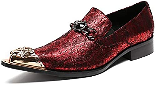 LOVDRAM Chaussures En Cuir Pour Hommes Nouveaux Hommes Chaussures Habillées Style De Mode Homme En Cuir Véritable Chaussures De Mariage Social Sapato Male Oxfords Appartements Chaussures Sapatos 7.5 R