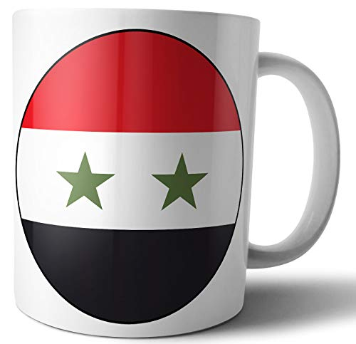 Tasse, Motiv: Flagge der syrischen Flagge – Tee – Kaffee – Tasse – Geburtstag – Weihnachten – Geschenk – Secret Santa – Strumpffüller