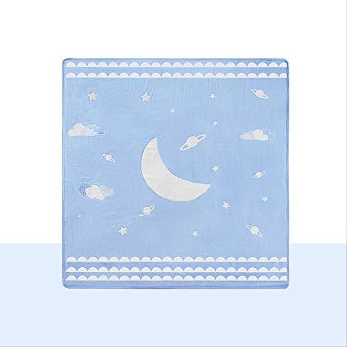 Baby-Produkte, Baby Eis Abdeckung Decke Klimaanlage Decke blau rosa Bambus Faser dünne Decke 100cm X 110cm. 100cm x 110cm. Blau.