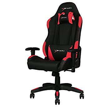 E-WIN Gaming Chair Ergonomic High Back PU Leather Racing Style with Adjustable Armrest and Back Recliner Swivel Rocker Office Chair Calling Series Red