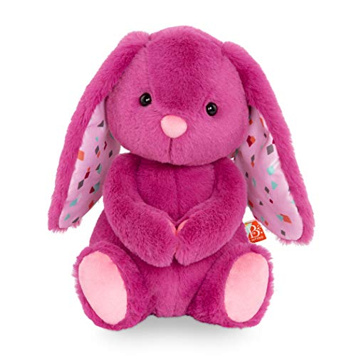 """B. toys – Plush Bunny – Super Soft Stuffed Animal – Pink – 12"""" – Washable Rabbit Toy – for Babies, Toddlers, Kids – Happy Hues – Plumberry Bunny – 0 Months + (BX1925C30Z)"""