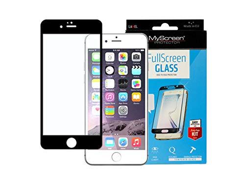 etuo Custodia per Apple iPhone 6 in vetro temperato 9H protezione display in vetro temperato MyScreen Protector Diamond Edge 3D – Nero