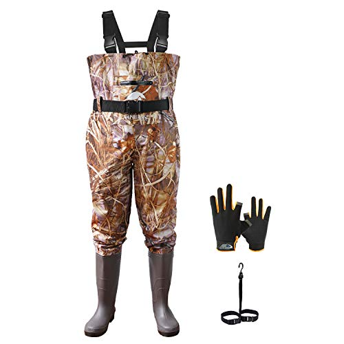 Vadeador de Pesca Pantalones con Botas Impermeable para Hombre Mujer...