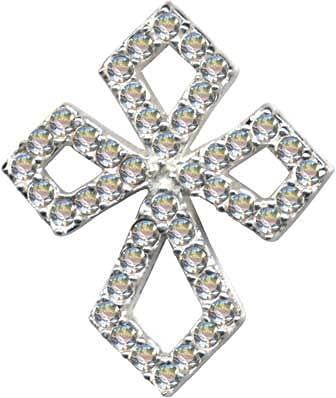 Cruz Jesucristo celta cristiana blanco colgante plata de ley 925 circonitas cristal colgante amor Dios religión igión igión nuevo transparente 51027