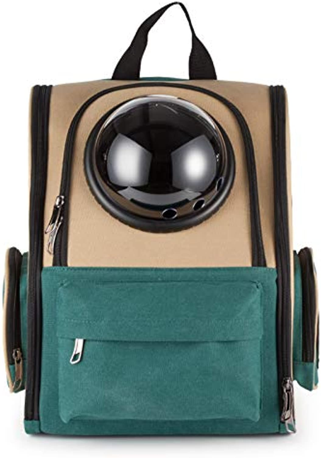Cat Carrier Backpack Pet Travel Bag Small Dog Space Capsule Knapsack Waterproof Breathable 14.9 x 10.2 x 14.9 ,B