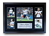 HWC Trading A3 FR Harry Kane Signed Gift FRAMED A3 Printed Autograph Tottenham Hotspur Spurs Gifts P...
