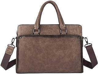 Chliuchihjklstb briefcase, Men's Briefcases, Men's Business Bags, Leather Cowhide Handbags, Shoulder Messenger Bags (Color...