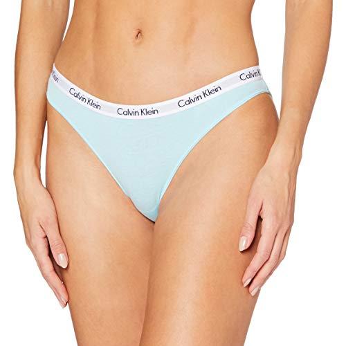 Calvin Klein Damen Bikini Bikinihose, Blau (Frozen FZ6), (Herstellergröße: X-Small)